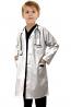 Children's / kids labcoat 3 pocket full sleeve in twill fabric