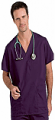 Top v neck 2 pocket half sleeve unisex