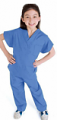 Clearance children / kids scrub top half sleeve 2 front pocket solid poplin fabric