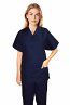 Stretchable Scrub set 4 pocket solid ladies half sleeve (2 pocket top and 2 pocket pant) in 35% Cotton 63% Polyester 2% Spandex