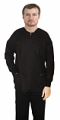 Scrub Jacket 3 pocket solid full sleeve unisex with rib and plastic button