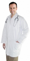 Twill labcoat unisex full sleeve with snap buttons 3 pocket solid (48 perc cotton 52 perc polyester)