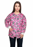 Jacket 2 pocket printed unisex full sleeve in pink ribbon print with rib