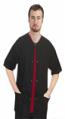 Stretchable Scrub Jacket 3 pocket solid half sleeve unisex in 35% Cotton 63% Polyester 2% Spandex