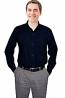 Microfiber unisex full sleeve 1 chest pocket shirt