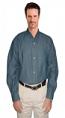Unisex denim full sleeve shirt with 1 chest pocket in dark denim shade