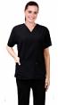 Microfiber scrub set 4 pocket half sleeve ladies  (2 front pocket top & 2 side pocket pant)