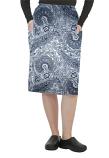 Cargo pockets ladies skirt in Blue Paisley Print