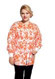 Jacket 2 pocket printed unisex full sleeve printed in petal orange with rib