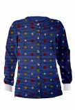 Jacket 2 pocket printed unisex full sleeve in Shapes Print with rib