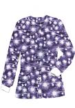 Jacket 2 pocket printed unisex full sleeve in purple fire work print with rib