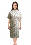 Patient gown half sleeve  printed back open, Flower Bouquet Print, Sizes XS-9X