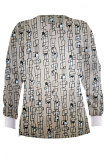 Jacket 2 pocket printed unisex full sleeve in Geometric Print with rib