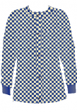 Jacket 2 pocket printed unisex full sleeve in Blue Square Print with rib