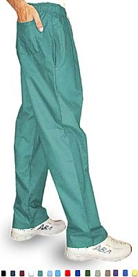 Stretchable Pant 3 pocket (2 side pocket 1 back pocket )waistband with elastic and drawstring both unisex in 35% Cotton 63% Polyester 2% Spandex