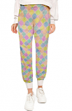 Printed Scrub Jogger Pant 6 Pockets Unisex (2 side pockets, 2 cargo pockets with cell phone pocket & 1 back pocket) half elastic waistband available in Muliple Prints