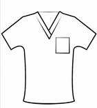 Customised vneck scrub top