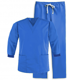 Full sleeve with rib scrub set 4 pocket solid ladies (2 pocket top and 2 pocket pant)