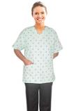 Printed scrub set 4 pocket ladies half sleeve Black Leaf print (2 pocket top and 2 pocket black pant)