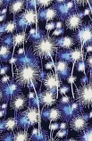 Blue Fire Work Print Loose Fabric Width 64 Inch (52% Polyester & 48  Cotton ) Per Meter