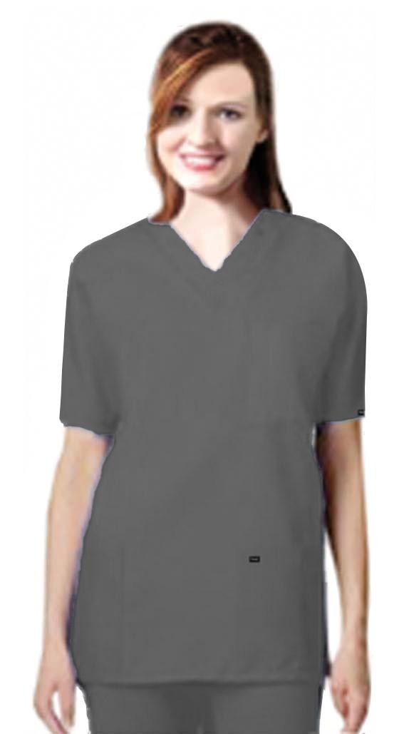 Stretchable Scrub set 9 pocket unisex solid half sleeve (3 pocket top 6 pocket pant) in 35% Cotton 63% Polyester 2% Spandex