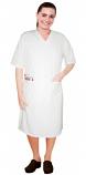 V neck half sleeve nursing dress with zip and 2 front pockets knee length
