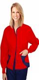 Jacket 2 pocket ladies hip flip full sleeve short length style jacket with rib Snap Button