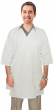 Twill labcoat unisex half sleeve with side tieable 3 pocket solid in 37 inch lengths