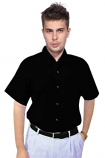 Unisex poplin half sleeve shirt
