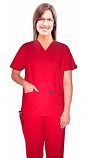 Microfiber Scrub set 4 pocket solid unisex half sleeve (top 2 pocket and pant 1 cargo pocket & 1 back pocket)