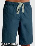 Bermuda no pocket (inseam is 11 inches) In Dark Denim Shade 100% Cotton