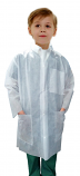 Kids Disposable lab coat 3 pocket full sleeve with front plastic snap buttons