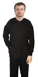 Scrub Jacket 3 pocket solid full sleeve unisex with rib and zip