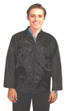 Barber jacket with collar 3 pkt full sleeve with zipper (nylon fabric)