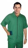Barber set with collar 4 pockets  half sleeves (jacket 3 pocket with bottom 1 pocket unisex ) poplin fabric