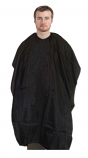 Barber cape round neck with velcro in 100 perc polyester (nylon fabric)
