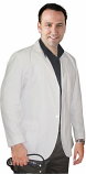Consultation labcoat men full sleeve with plastic buttons 3 pockets in (??48 perc cotton,52 perc polyester) poplin fabric