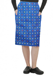 Cargo pockets ladies skirt in Shapes Print